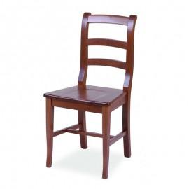 Sedia classica con seduta in legno massello colore noce  43x46xh.93 cm