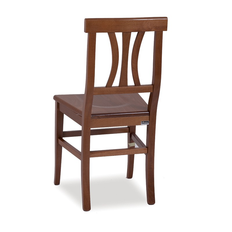 Sedie In Legno Arte Povera.Sedia In Legno Colore Noce E Seduta In Massello 43x45xh 91 Cm