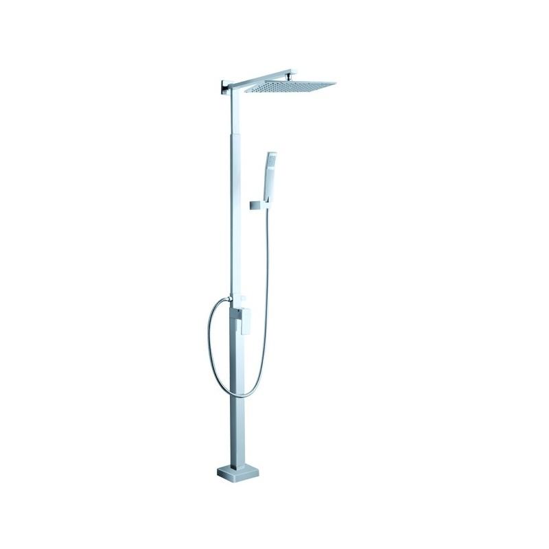 Gruppo doccia regolabile finitura cromo con soffione e doccietta h.230 cm