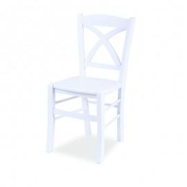 Sedia in legno di faggio bianca seduta in multistrato  45x45xh.89 cm