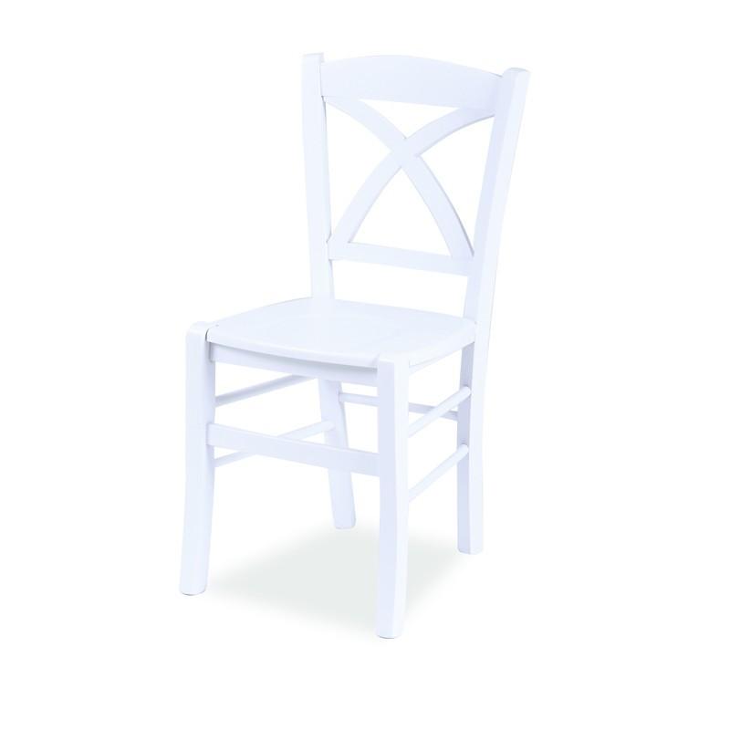 in legno di faggio bianca seduta in multistrato 45x45xh.89 cm