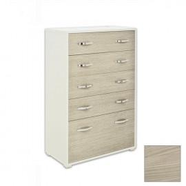 Cassettone laterale Bianco e frontale Olmo legno nobilitato 91x45xH 130 cm