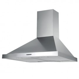 Cappa aspirante in acciaio inox a parete con  lampada alogena 90x47,5 cm