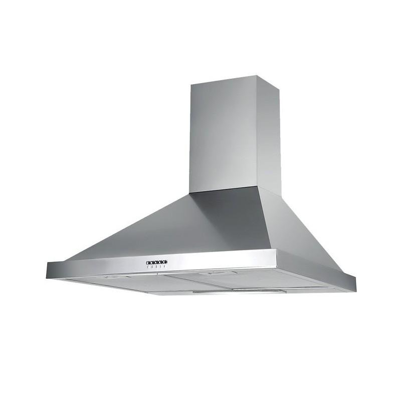 Cappa aspirante in acciaio inox a parete con lampada alogena 90x47 - Scarico fumi cappa cucina a parete ...