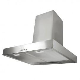 Cappa aspirante in acciaio inox a parete con lampada alogena 60x53cm