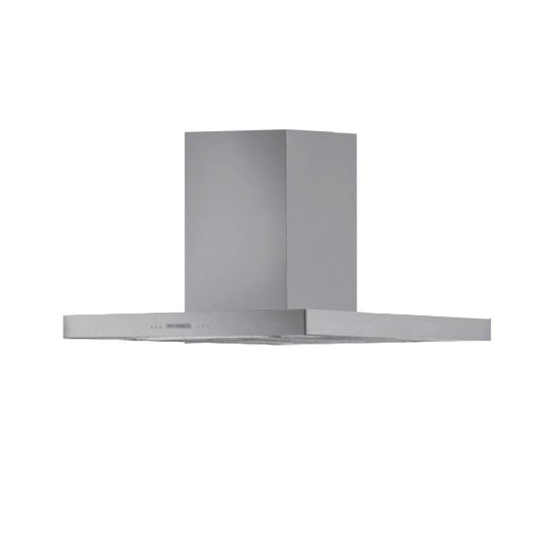 Cappa aspirante in acciaio per cucina a isola schermo touch luce le...