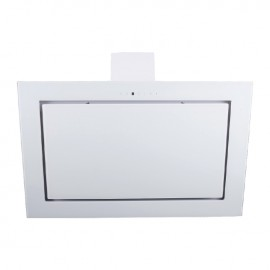 Cappa aspirante bianca per cucina a parete schermo touch luce led 60x60cm