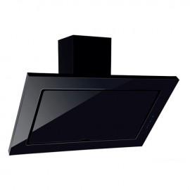 Cappa aspirante nera per cucina a parete schermo touch luce led 60x60cm