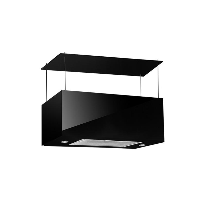 Cappa aspirante nera per cucina a isola schermo touch luce led 75x35cm - Luce per cucina ...