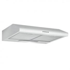 Cappa aspirante in acciaio bianca a parete con luce alogena 60x47 cm