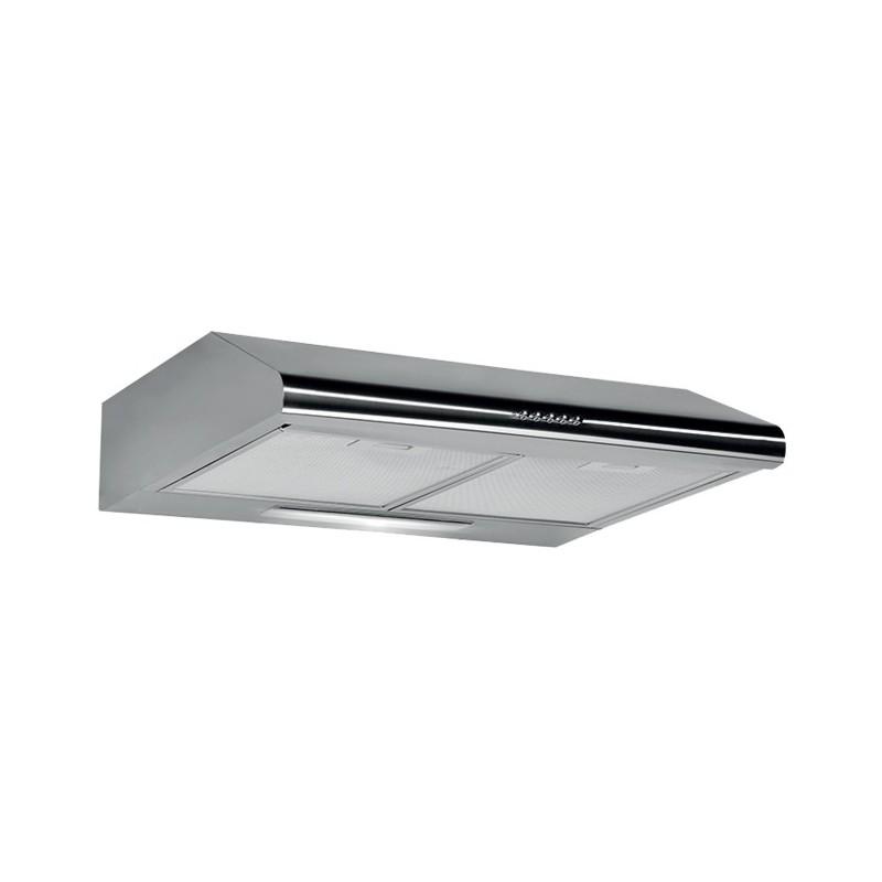 Cappa aspirante in acciaio inox a parete con luce alogena 60x47 cm