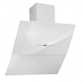 Cappa aspirante bianca per cucina a parete schermo touch luce led 60x70cm