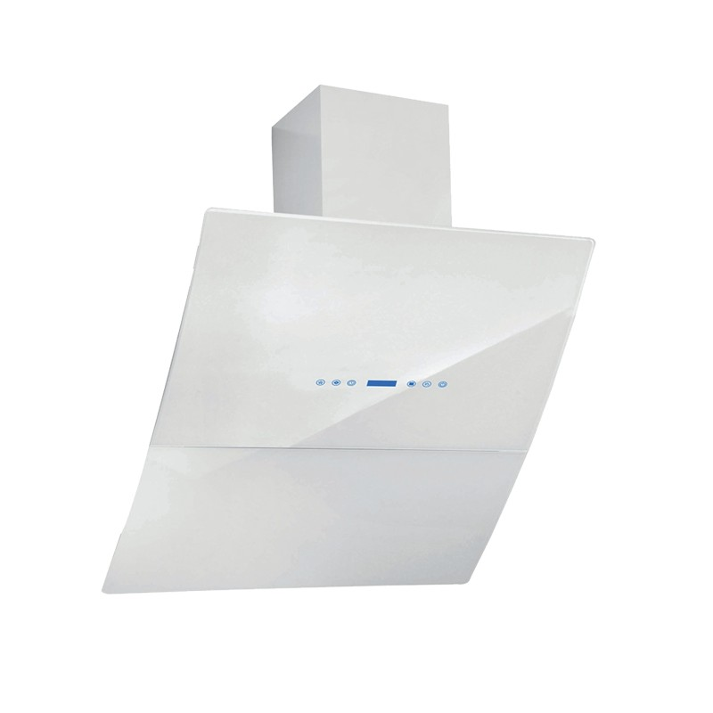 Cappa aspirante bianca per cucina a parete schermo touch luce led 6...