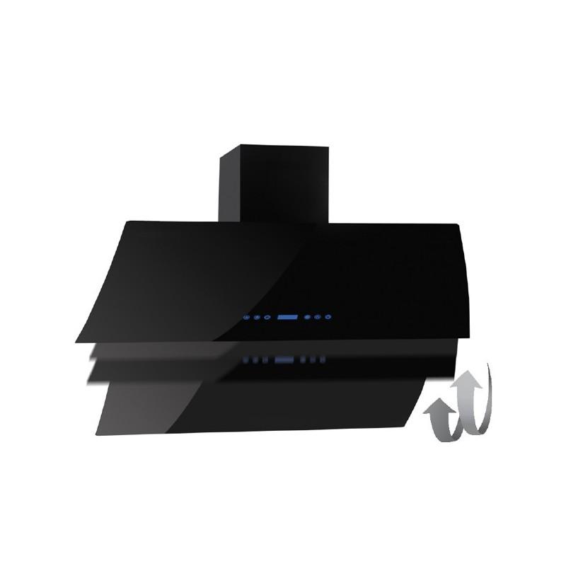 Cappa aspirante nera per cucina a parete schermo touch luce led 60x - Cappa per cucina a legna ...