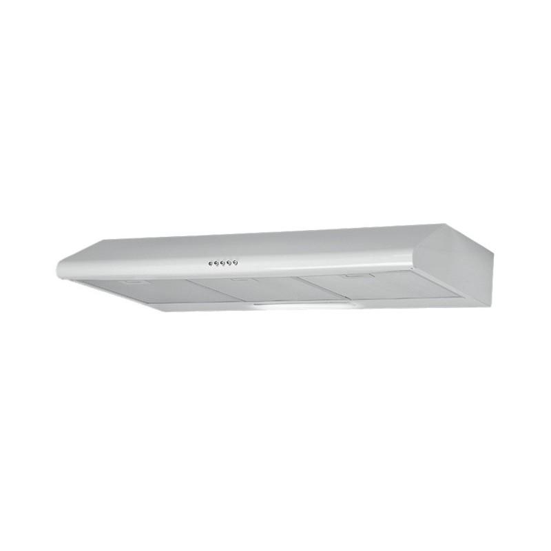 Cappa aspirante in acciaio bianca a parete con luce alogena 90x47 cm