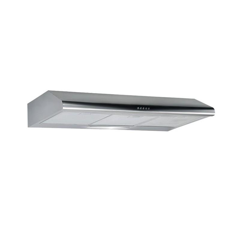Cappa aspirante in acciaio inox a parete con luce alogena 90x47 cm