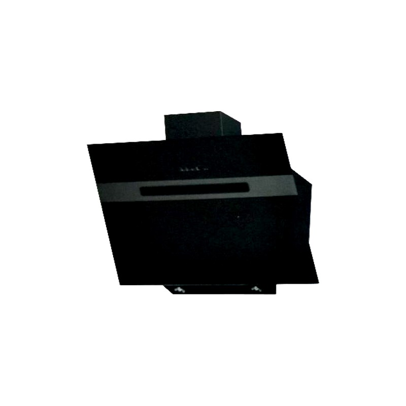 Cappa aspirante nera per cucina a parete schermo touch luce led 90x...