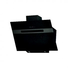 Cappa aspirante nera per cucina a parete schermo touch luce led 60x53cm