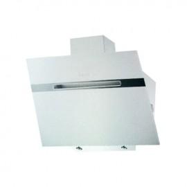 Cappa aspirante bianca per cucina a parete schermo touch luce led 90x53cm