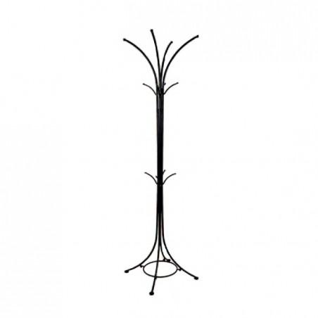 Appendiabiti in ferro verniciato colore nero 42x42xh.182 cm