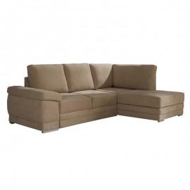 Divano letto angolare tessuto cappuccino penisola dx 250x92xh.90 cm