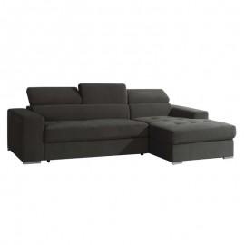 Divano letto con penisola a dx grigio scuro 270x112xh.74 cm