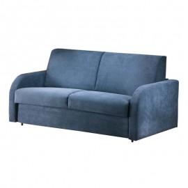 Divano letto 3 posti in ecopelle azzurro sfoderabile 188x100xh.92 cm