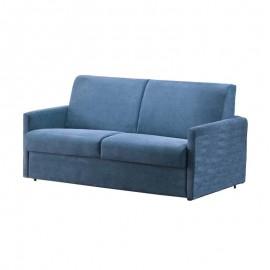 Divano letto 3 posti in ecopelle azzurro sfoderabile 180x100xh.90 cm