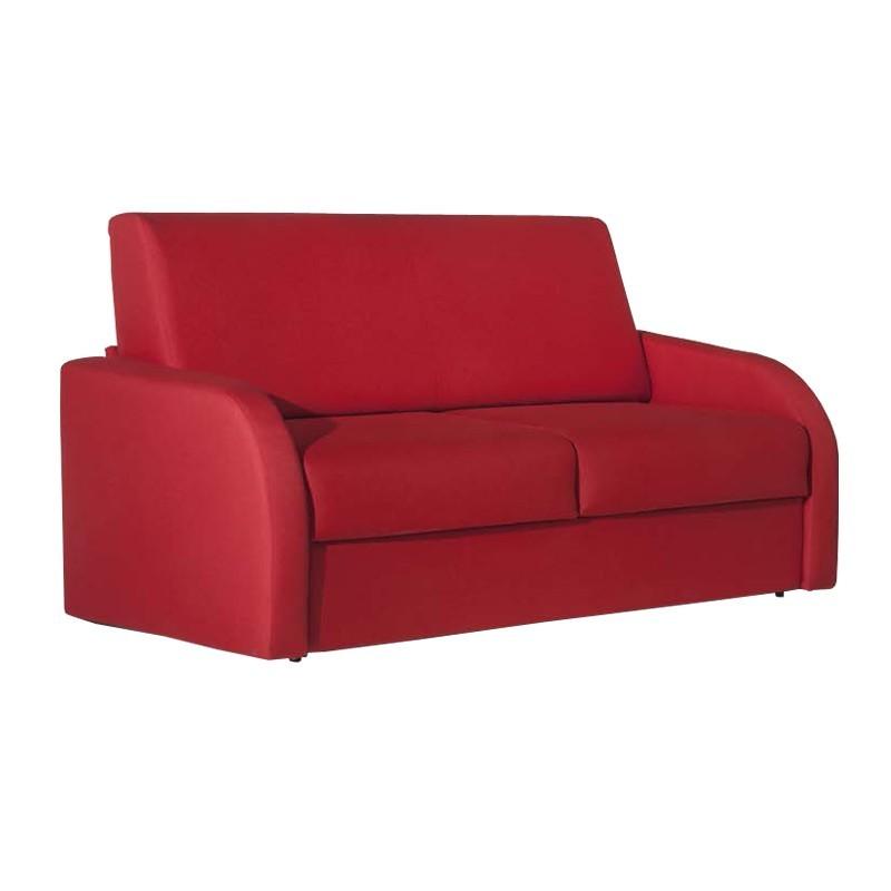 Divano letto 3 posti in tessuto rosso sfoderabile cm - Divano letto 120 cm ...
