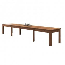 Tavolo allungabile in legno nobilitato noce country 160/320x90 cm