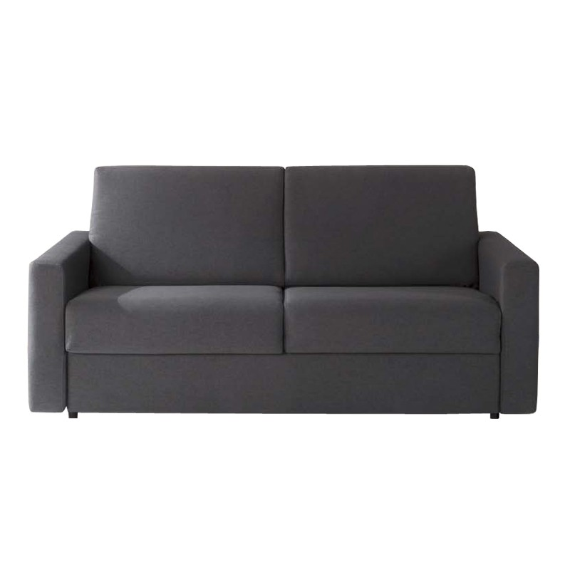 Divano letto 3 posti in tessuto grigio sfoderabile cm - Divano letto 120 cm ...