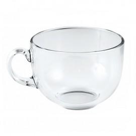 Tazza da latte in vetro trasparente da 45cl pz 2