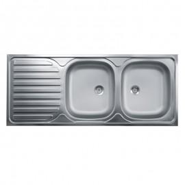 lavello-acciaio-2-vasche-con gocciolatoio-sx