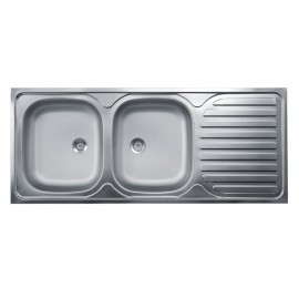 lavello-acciaio-2-vasche-con gocciolatoio-dx