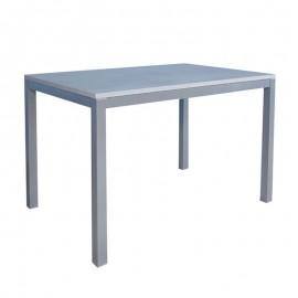Tavolo pranzo allungabile legno nobilitato metallo cucina grigio  80x140 cm