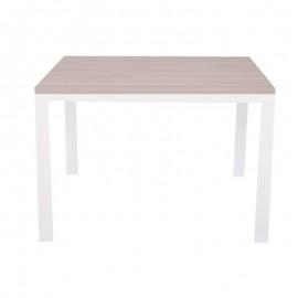 Tavolo pranzo allungabile legno nobilitato metallo cucina olmo 70x110