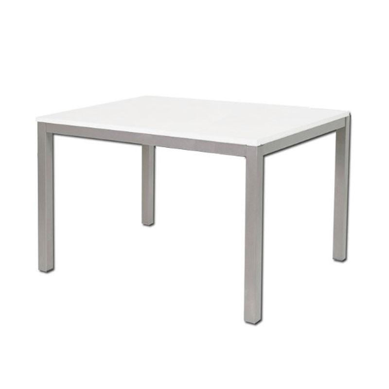 Tavolo pranzo allungabile legno nobilitato e metallo for Tavolo allungabile bianco e legno