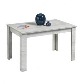 Tavolo estensibile in legno nobilitato colore betulla bianco 160x90xh 76 cm