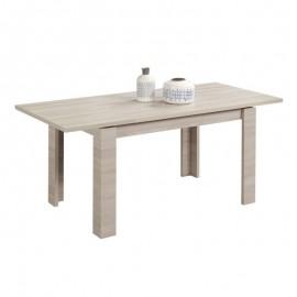 Tavolo estensibile in legno nobilitato colore olmo  perla 100x100xh 76 cm