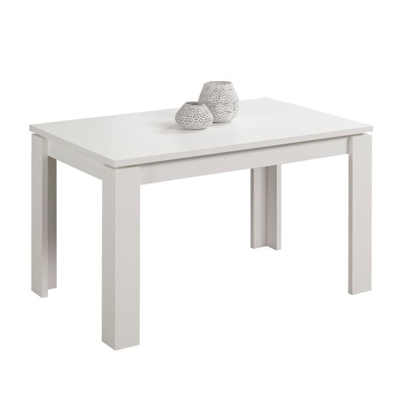 Tavolo estensibile in legno nobilitato colore bianco for Tavolo estensibile