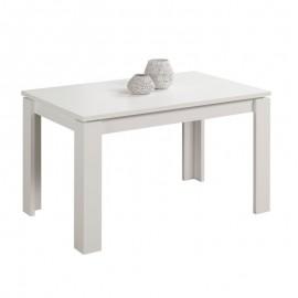 Tavolo estensibile in legno nobilitato colore bianco larice 140x80xh 76 cm