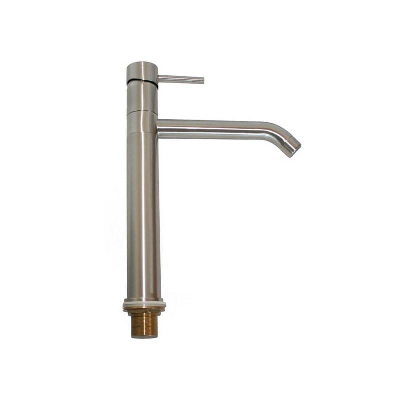 Rubinetto miscelatore per lavabo cucina finitura inox h.32,9x19 cm