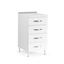 Cassettiera per cucina in legno nobilitato Bianco Frassinato cm H 85x50x40