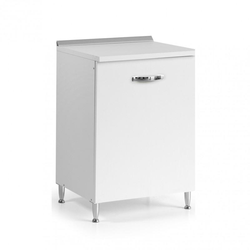 Base per cucina con 1 anta colore bianco frassinato Cm 60x50xH 85