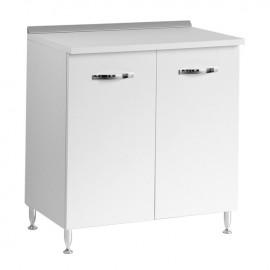 Base per cucina Bianco Frassinato 2 ante Cm 80x50xH 85