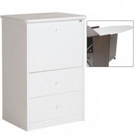 Mobile asse stiro Bianco 3 cassetti in legno nobilitato cm 44x57xH.89