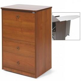 Mobile asse stiro Noce Antico legno nobilitato 3 cassetti cm 44x57xH.89