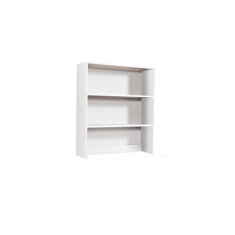 Libreria da appoggio per scrivania 2 ripiani Bianco Frassinato H.105x90x29cm