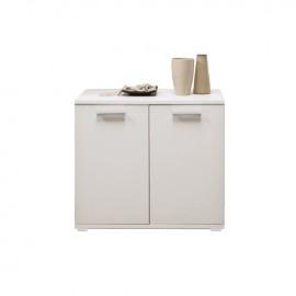 Mobile multiuso Bianco Frassinato in legno nobilitato  L.90xH.80xP.45 cm