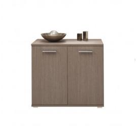 Mobile multiuso in legno nobilitato per interno larice grigio 90xh80x45